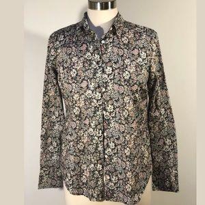 J crew Liberty Fabric button up women's shirt